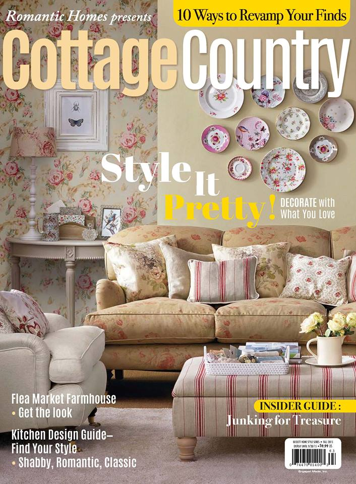 Romantic homes magazine in the press jo anne coletti Home and cottage magazine