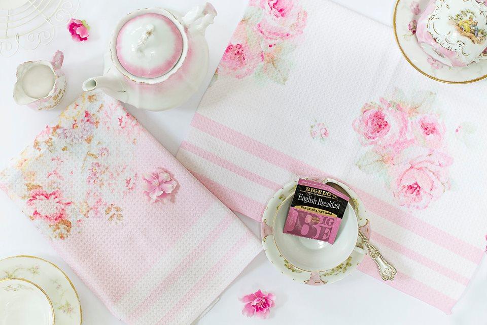 Tea Towel, Rose Fabric, Joanne Coletti, Shabby Chic, Vintage, Kitchen,  Homegoods