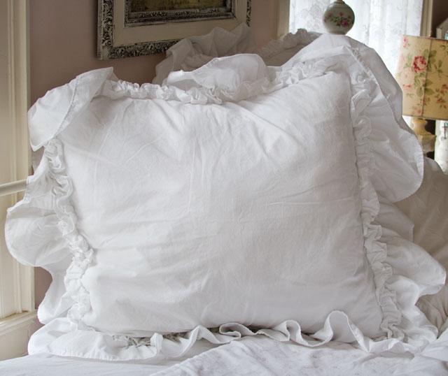 Ruffle Feminine Bedding Shabby Style Pillow Shams
