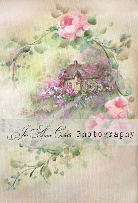 Vintage Cottage Note Cards-shabby note cards, pink roses, vintage stationery