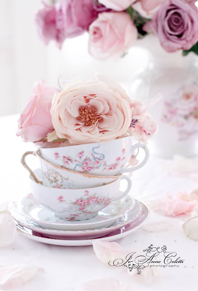 Tea Cups & Roses Note Cards