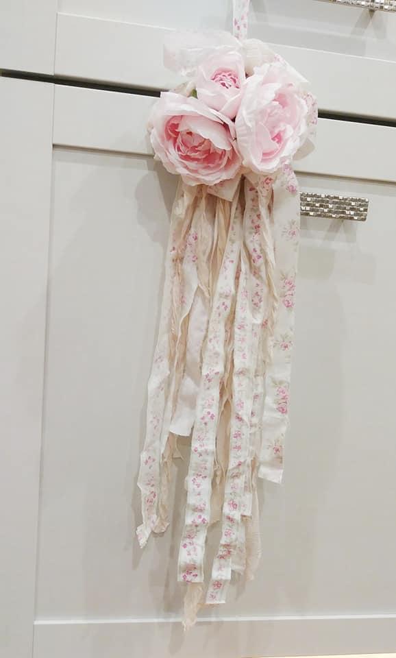 NEW Rose Tassel-rose tassel, shabby chic, rose crown, joanne coletti, romantic, rachel ashwell fabric
