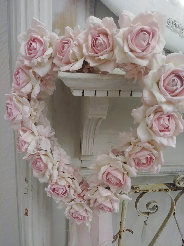 Heart of Roses-Paper roses, wedding, flower crowns, boho, roses, flower girl, brides, joanne coletti, shabby chic, rose crowns