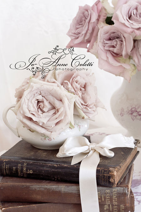 Note Cards Amanda Rose-Vintage books, shabby chic style note cards, antique cards, roses