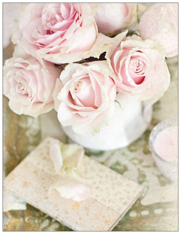 Aged Roses Note Cards