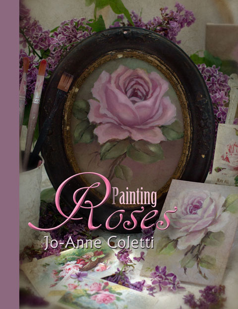 Painting Roses Book-Painting roses, learn to paint flowers, oil painting,floral art, vintage rose art, oil painting classes, Marshfield, MA, JoAnne Coletti artist in vintage style paintings.