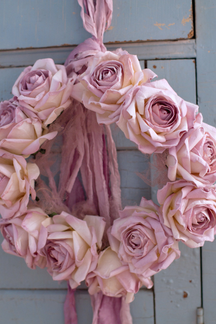 Handmade Rose Crown by Designer Rachel Noelle Pallas-Handmade Rose Crown by Rachel Noelle Pallas, ribbon crowns, vintage rose collection, wedding crowns, baby shower, shabby chic