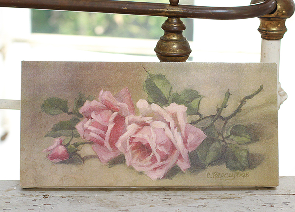 Christie Repasy Two Pink Roses Original Giclee Canvas Print-Christie Repasy. canvas print, roses art