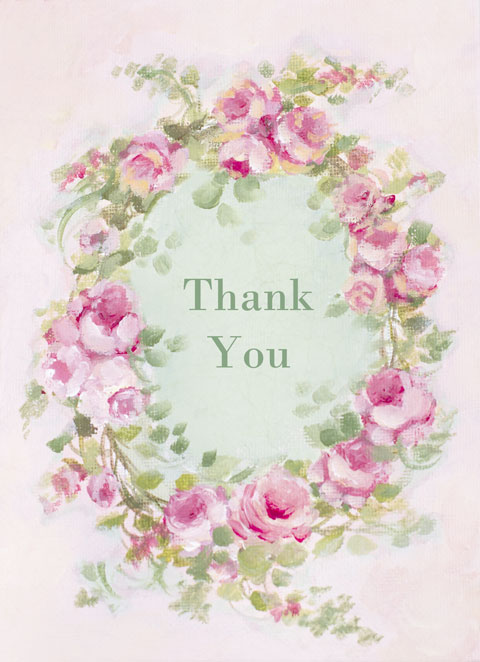 Thank you note cards-rose note cards, art, rose paintings, joanne coletti, shabby chic, vintage rose, vintage style, paper, oil painting, rose paintings, canvas, stationery, pink office
