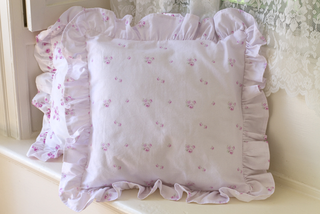 Boudoir pillow Lavender-rose pillows, pink, lavender bedding, shabby chic