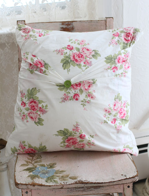 Rose Pillow-Vintage pillow