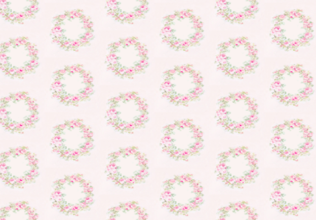 Pink Wreath Fabric by Jo-Anne Coletti-Rose wreath fabric, shabby chic fabric, joanne coletti, cottage style, bedding, curtains