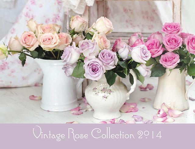 2014 Feminine Calendar-2014 shabby chic style calendar, romantic calendar, feminine home