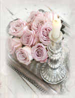 Platinum Pink Note Cards-shabby chic note cards, romantic cards, vintage cards, Jo-Anne Coletti