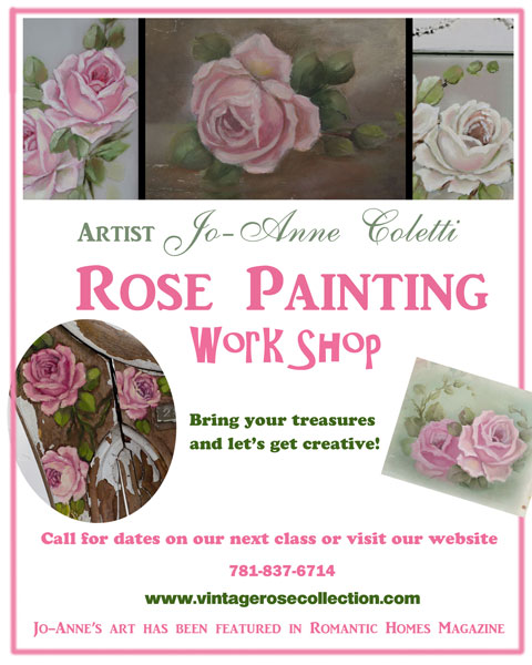 Art Classes- Friday, August 23rd-Art classes marshfield MA, painting roses by JoAnne Coletti