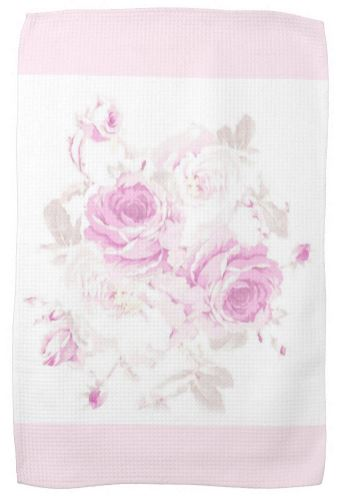 Cabbage Roses Tea Towel