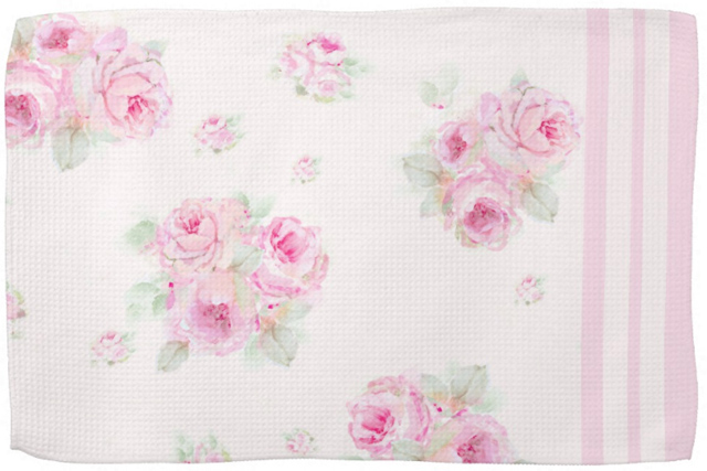 Rose Tea Towel Exclusive-tea towel, rose fabric, joanne coletti, shabby chic, vintage, kitchen, homegoods